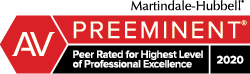 2020 Martinale Peer-Rated Personal Injury Lawyer for Excellence