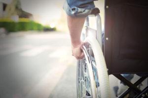 wheelchair bound person