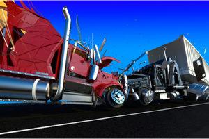 truck head on collision